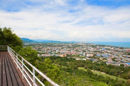 hua: Hua Hin city from scenic point, Hua Hin, Thailand Stock Photo