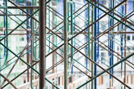 Andamio. Andamios de construcción / Fondo de textura de andamio abstracto. Foto de archivo