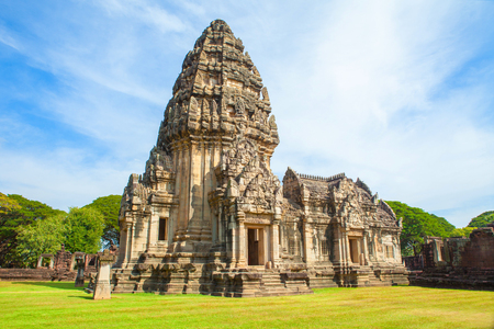 phimai Historical and ancient stone castle in thailand Editorial