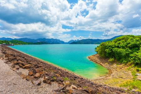 heart of Ratchaprapa Dam Chaew Lan Dam Surat Thani Thailand
