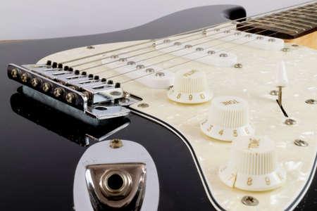 tremolo: Electric Guitar Close up Stock Photo