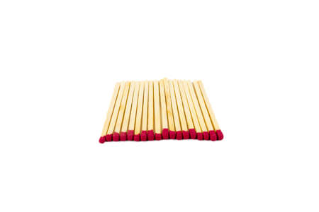 A shot of matches laying perfectly flat next to each other on a white background. Stock fotó - 70518757