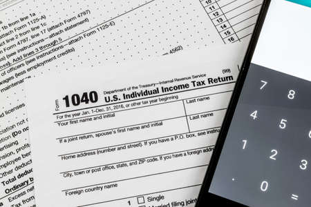 Filing Tax Forms Stock Photo Picture And Royalty Free Image Image