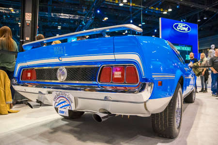 Chicago, IL, United States - February 18, 2017 - Chicago Auto Show: Ford Mustang Mach 1 on display during the 2017 Chicago Auto Show.