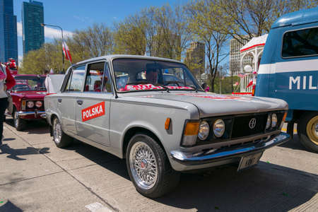 Chicago, IL, United States - May 06, 2017: Polish (Polski) Fiat 125p during the Polish Consitution Day Parade in Chicago. Editorial