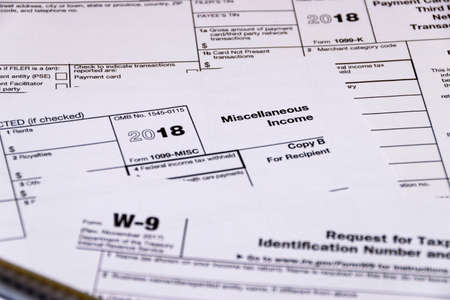 Composed shot of IRS tax forms Stockfoto