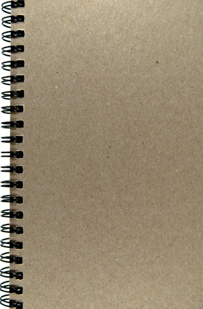 Cover of ring binder notebook made from recycle paper. photo