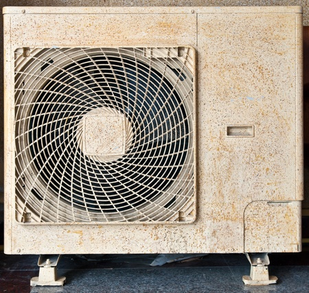 Grunge and old compressor air-condition. photo