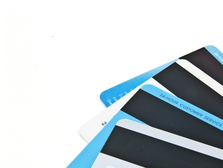 creditcards: The back of creditcards with magnetic stripe. Stock Photo