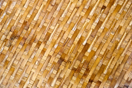 Texture of old bamboo handicraft.  Stock Photo - 10490394