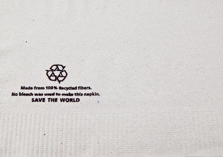 Recycled Tissue shot on white background. photo