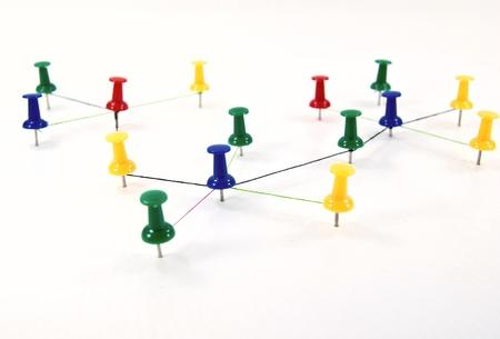 Nyomja csapok összekapcsolt hálózati fogalom.