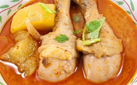 Massaman curry készült csirke. A dél-thaiföldi étel. Stock fotó