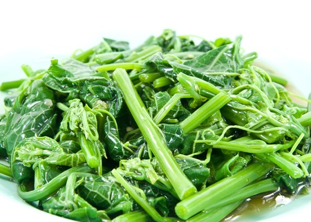 steamed: Healthy Greens Steamed Vegetables (Melientha suavis Pierre).