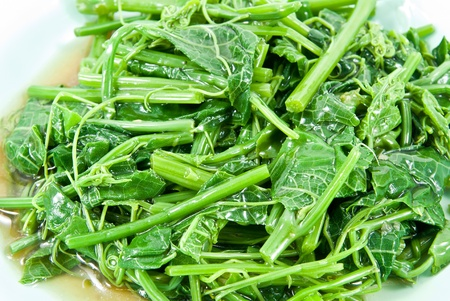 Stir-fried vegetables(Melientha suavis Pierre).