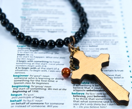 Cross with the word Believe. photo