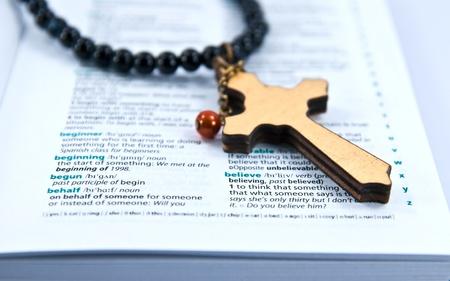 Cross with believe photo