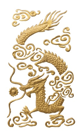 oriental ethnicity: Chinese Traditional Dragon  isolated on white.