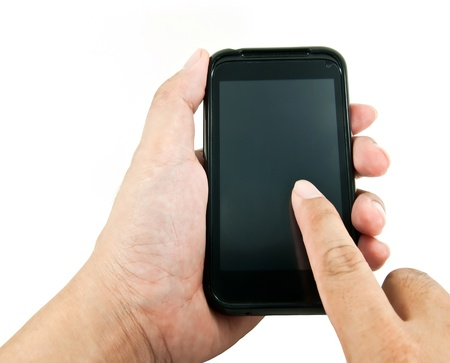 Hand using smart phone Stock Photo - 10804586