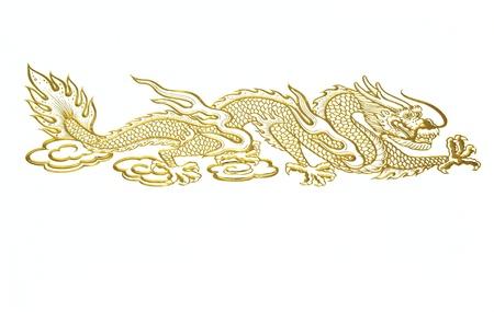 Arany kínai sárkány Stock fotó