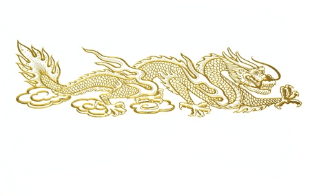 chinese new year dragon: Golden Chinese dragon
