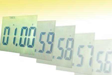 Digitális óra blur, hogy egy perc Stock fotó