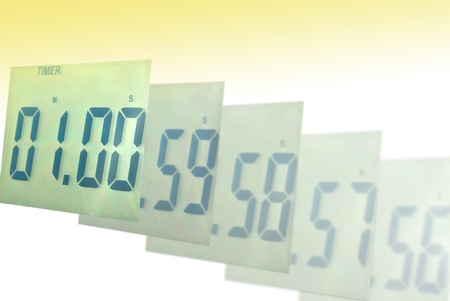 digital numbers: Digital clock blur to one minute
