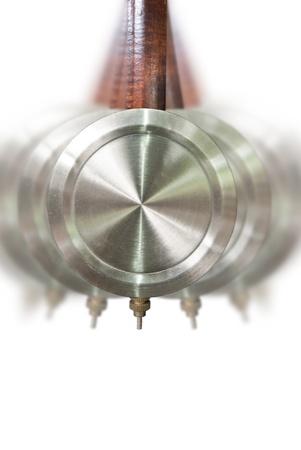 reloj de pendulo: P�ndulo tradicional movimiento del reloj Foto de archivo