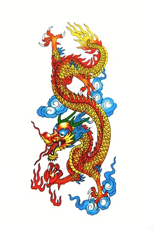Colorful Chinese dragon photo
