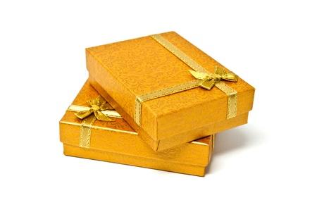 Gift boxes isolated on white background  photo