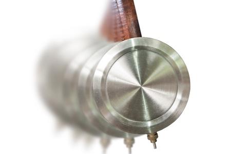 reloj de pendulo: Movimiento del p�ndulo del reloj Foto de archivo