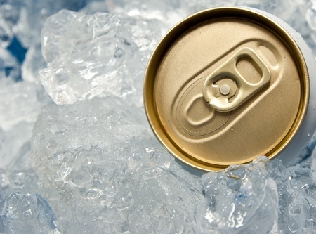 Beer can in ice photo