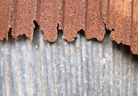 Rusty wave zinc steel sheet  photo
