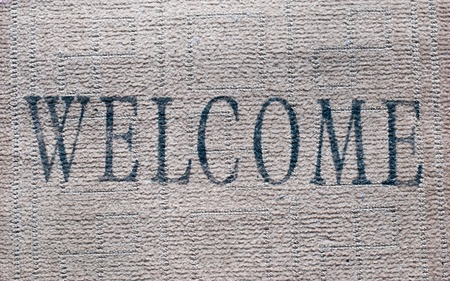 Welcome door mat  Stock Photo