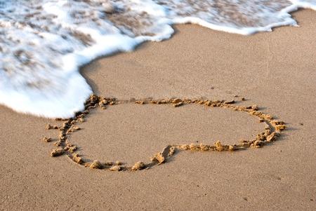 Heart on the sand beach photo