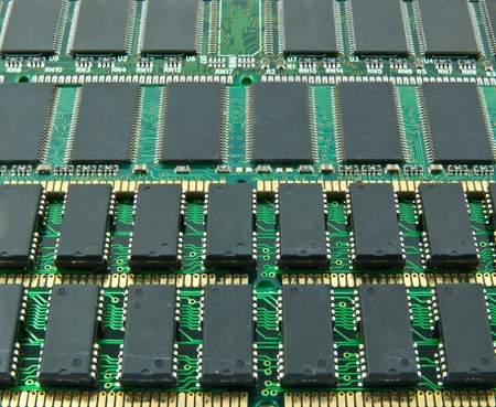 Integrated Circuits on computer ram memory photo