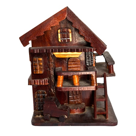 Model of house isolated on white Stock Photo - 13208518
