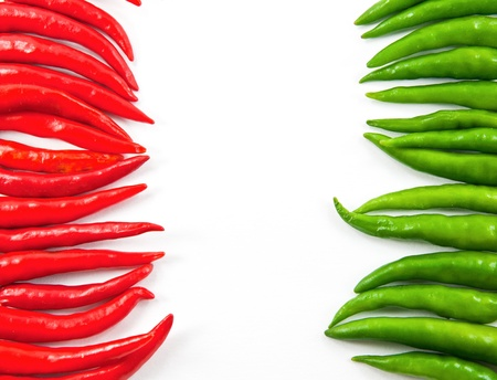 Hot chili peppers frame