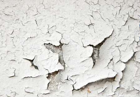 Old cracked paint on the concrete wall  photo
