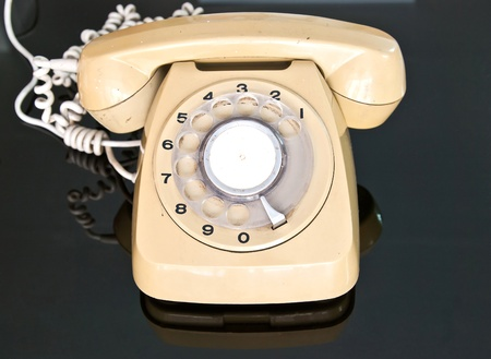 old telephone: Old telephone dial