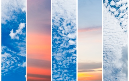 Collection of vertical sky banners photo