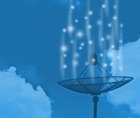 Satellite dish transmission data Stock Photo - 13586077