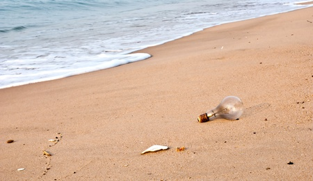 Garbage found on the beach  photo