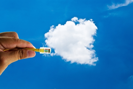 Cloud computing innovation digital concept Stock Photo - 13643595