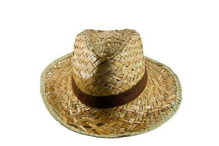 Straw hat isolated on white background  photo