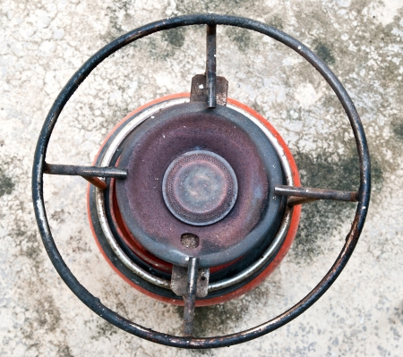 Top view of camping gas cooker photo