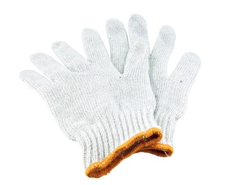 Gloves isolated on white with clipping path Stock Photo