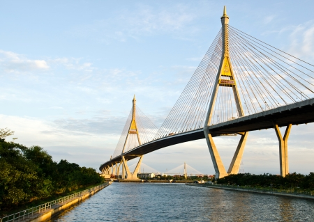 Bhumibol bridge in Thailand Stock Photo - 14834124