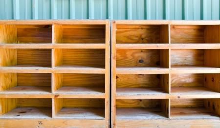 Empty wooden rack photo