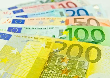 Euro pénz bankjegyek